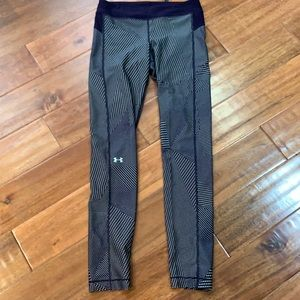 Under Armour purple and yellow printed leggings